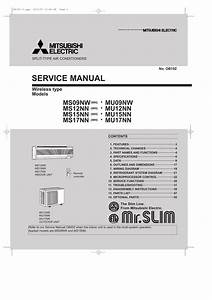 Mitsubishi Mr Slim Ms09nw Service Manual