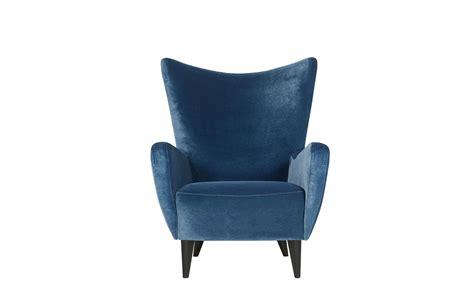 Armchair In Classic Velvet Colour 12 Navy Blue Www