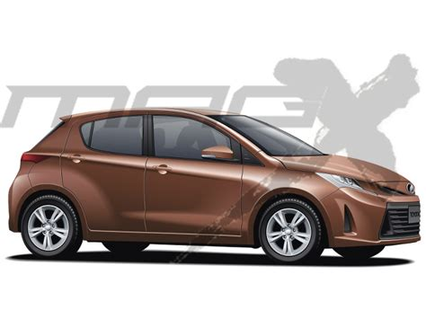 Toyota Yaris 2019 Europe by Tnga Platform Based Next Toyota Yaris Rendered