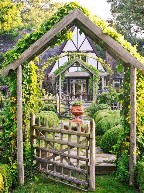 Outdoor Arbor by Gardeningwalks Rustic Pergola Gate The Pitched
