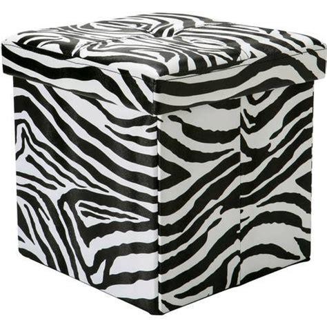 Zebra Ottoman Walmart - single folding ottoman zebra walmart