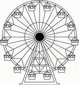 Ferris Wheel Coloring Carnival Drawing Drawings Wheels Pages Tattoo Sketch Amusement Printable Wordpress Designs Projects Park Crafts Fair Sheets Colour sketch template