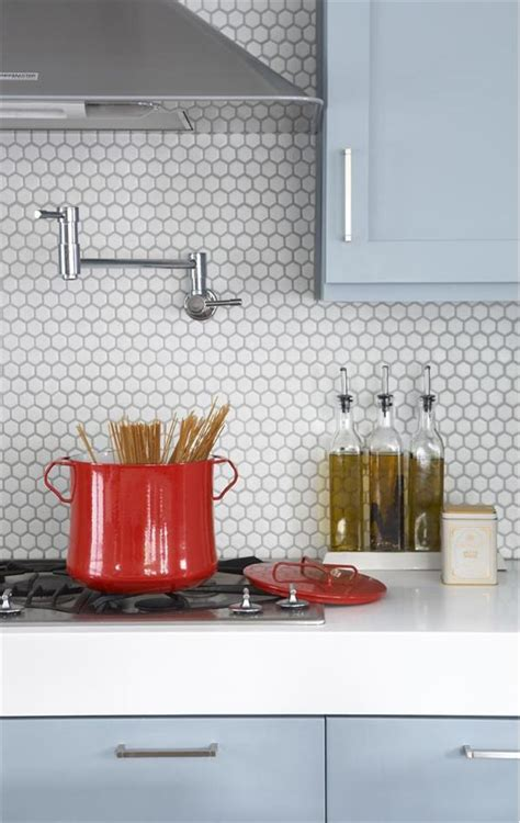 the octagonal tile backsplash contemporary modern