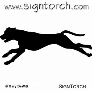 Dog Running _ : SignTorch, Turning images into vector cut ...