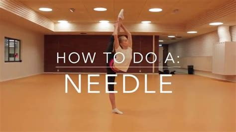 How To Do A how to do a needle