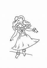 Hula Bailando Dibujos Dibujosonline Categorias Coloring Colorear sketch template