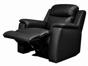 Fauteuil Relax Ikea : fauteuil relax en cuir de vachette coloris noir evasion ~ Teatrodelosmanantiales.com Idées de Décoration
