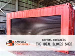Shipping Container as Storage Shed