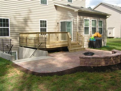 walkout basement deck and patio ideas home design ideas