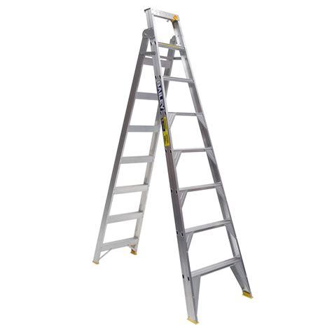 aluminium ladder bunnings bailey 2 4 4 4m 150kg aluminium dual purpose ladder