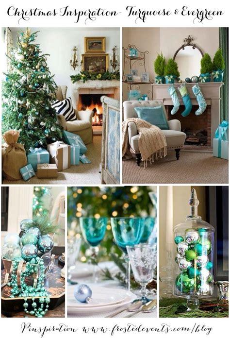christmas inspiration turquoise evergreen holiday