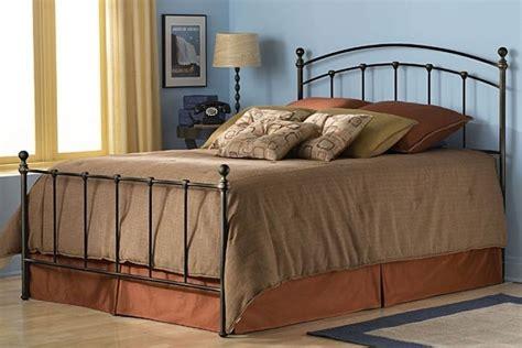 King Size Metal Bed Frame Black Headboard Footboard New