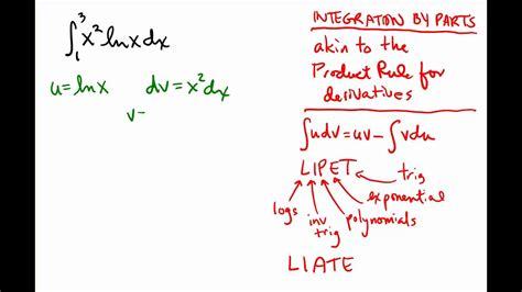 integration  parts  logarithms  polynomials youtube