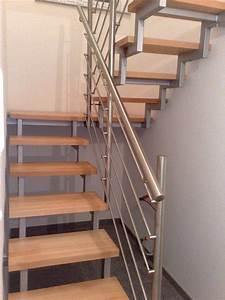 Metall Und Mehr : stahltreppe mit holzstufen und edelstahlgel nder metallbau treppe treppengel nder und ~ Frokenaadalensverden.com Haus und Dekorationen