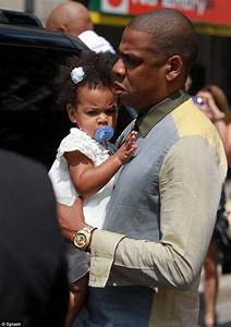 Jay-Z and Beyonce's daughter Blue Ivy furrows her brow ...
