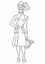 Coloring Printable Topmodel sketch template