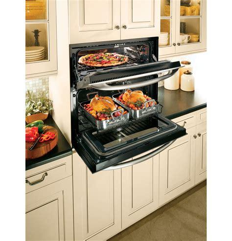 ge profile single double wall oven  double