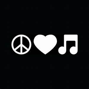 Love And Peace : peace love music note sticker car truck window vinyl decal ~ A.2002-acura-tl-radio.info Haus und Dekorationen