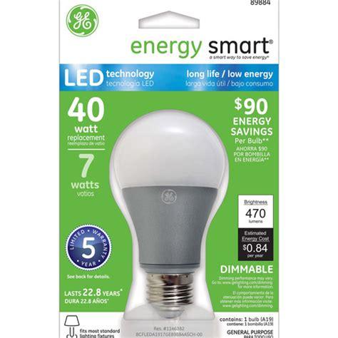 ge energy smart led 7w sw a19 light bulb 1 pack walmart
