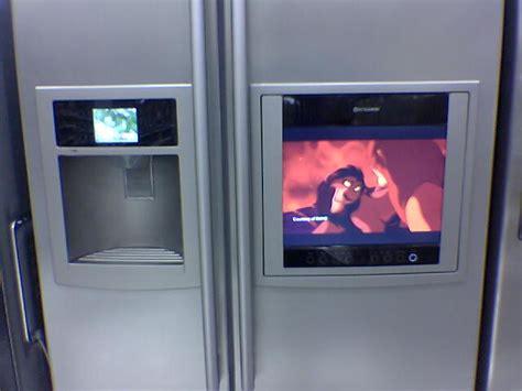 tv fridge  hooked   dvd player    customers
