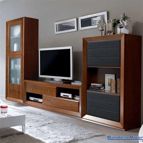 mueble  salon comedor de madera   vitrinas de