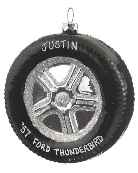 tire personalized ornament