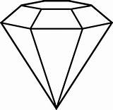 Diamond Coloring Shape Drawing Pages Outline Cut Line Clipart Simple Shapes 3d Template Tattoo Adult Gemstone Drawings Vector Rings Kidsplaycolor sketch template
