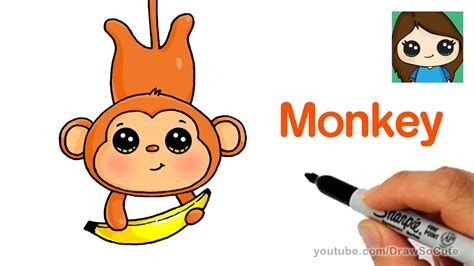 draw  cartoon monkey easy youtube