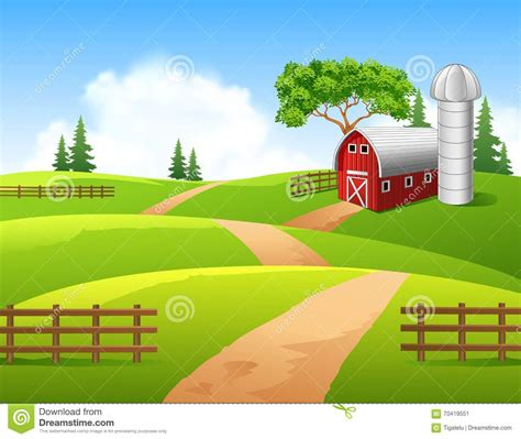 country ranch house plans illustration of farm background stock vector