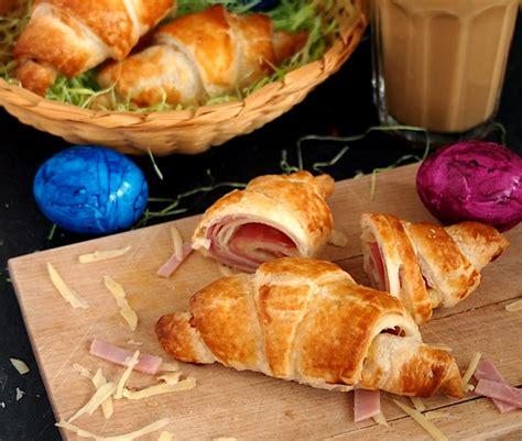 herzhafte kaese schinken croissants kleiner aufwand mit