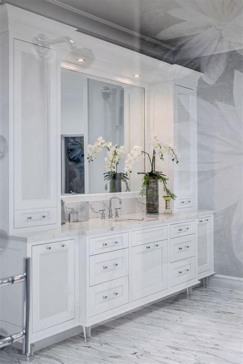 luxury white bathroom huge master bath shower  lotus