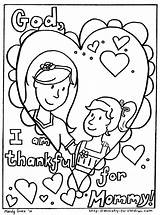 Coloring Mother Pages Mothers Children Daughter Easy Pdf Version sketch template