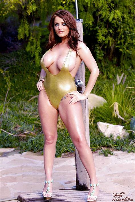 Sophie Dee Pulls Her Big Tits Out Of Gold Swimsuit Brand Danger Pictures