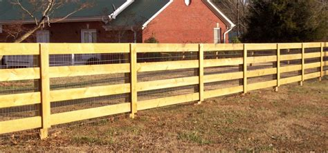 Custom Wood 4 Rail Ranch Rail Fence By Mossy Oak Fence