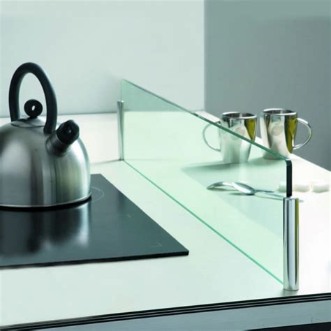 plaque en verre cuisine kit séparateur îlot protection anti projections verre l90