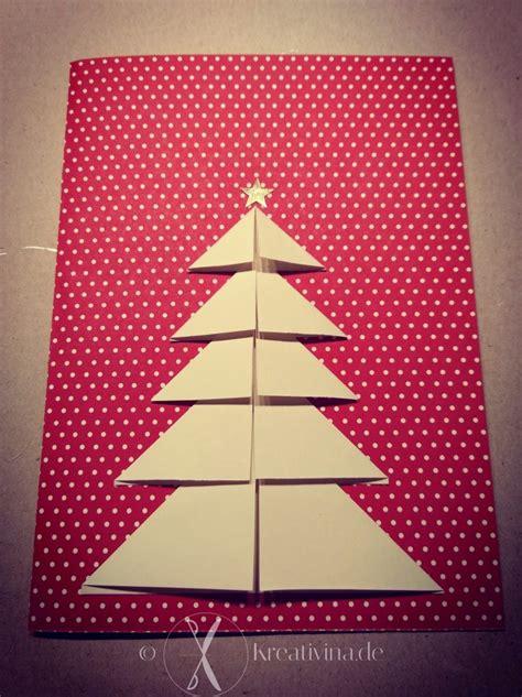 weihnachtskarte tannenbaum kreativinade