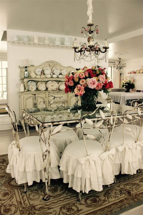 shabby chic dining chair slipcovers 26 ways to create a shabby chic dining room or area