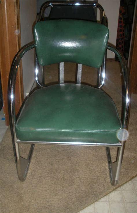 vintage  gas station chair chrome artdeco vintage