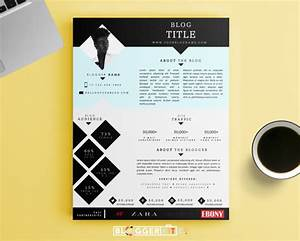 one page media kit template press kit template by bloggerkitco With digital press kit template free