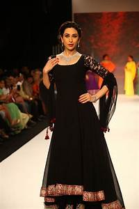 Karisma Kapoor in a black Manish Malhotra Anarkali ...