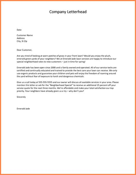 write letter  introducing  company sample tips