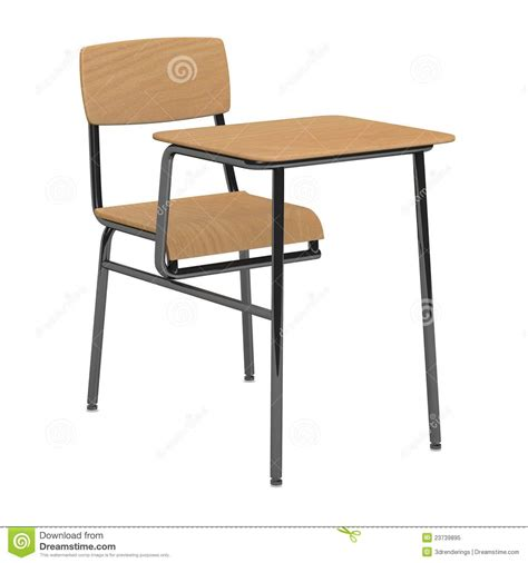 school chair and table for a single person royalty free