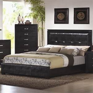 Black king size bedroom sets black california king size for Sectional sofa king bed
