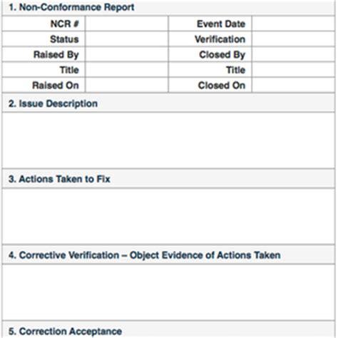 conformance reports quality control