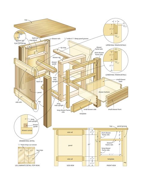 mission  table woodworking plans woodshop plans