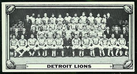 detroit lions team  topps test team