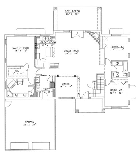 house plans and more ranch house plans with open floor plan chanhassen ridge