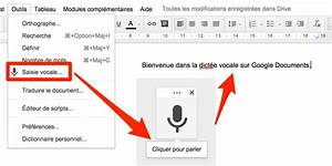 La Saisie Vocale En Natif Sur Les Google Documents Le
