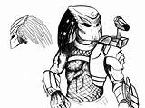 Predator Coloring Pages Alien Drawing Vs Terminator Colouring Xenomorph Sheets Drawings Printable Movie Queen Draw Getdrawings Boys Coloured Paint Uteer sketch template