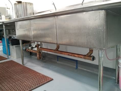 commercial  compartment sink  grease trap kitchen